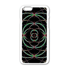 Abstract Spider Web Apple Iphone 6/6s White Enamel Case by BangZart