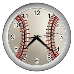 Baseball Wall Clocks (silver)  by BangZart
