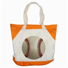Baseball Accent Tote Bag by BangZart