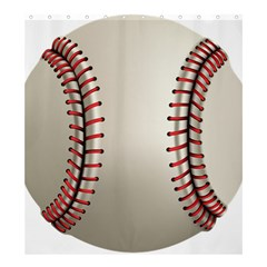 Baseball Shower Curtain 66  X 72  (large)  by BangZart