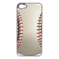 Baseball Apple Iphone 5 Case (silver) by BangZart