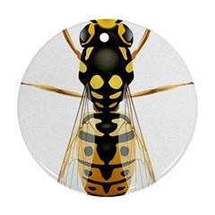 Wasp Round Ornament (two Sides) by BangZart