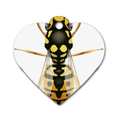 Wasp Dog Tag Heart (one Side) by BangZart