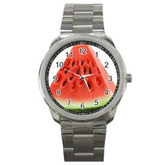 Piece Of Watermelon Sport Metal Watch by BangZart