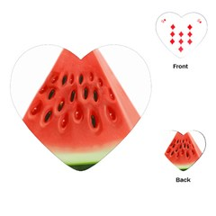 Piece Of Watermelon Playing Cards (heart)  by BangZart