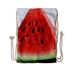 Piece Of Watermelon Drawstring Bag (small) by BangZart