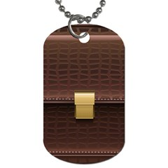 Brown Bag Dog Tag (one Side) by BangZart