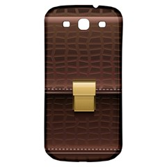 Brown Bag Samsung Galaxy S3 S Iii Classic Hardshell Back Case by BangZart