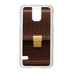 Brown Bag Samsung Galaxy S5 Case (white) by BangZart