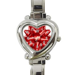 Red Bow Heart Italian Charm Watch by BangZart