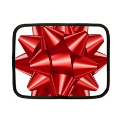 Red Bow Netbook Case (small)  by BangZart