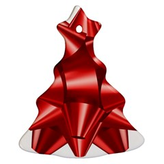 Red Bow Christmas Tree Ornament (two Sides) by BangZart