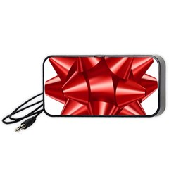 Red Bow Portable Speaker (black) by BangZart