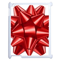 Red Bow Apple Ipad 2 Case (white) by BangZart