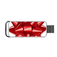 Red Bow Portable Usb Flash (one Side) by BangZart