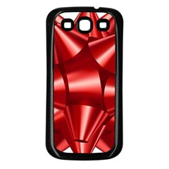 Red Bow Samsung Galaxy S3 Back Case (black) by BangZart
