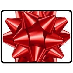 Red Bow Double Sided Fleece Blanket (large)  by BangZart