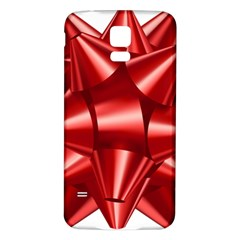 Red Bow Samsung Galaxy S5 Back Case (white) by BangZart