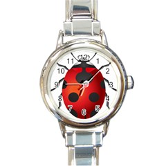 Ladybug Insects Round Italian Charm Watch by BangZart