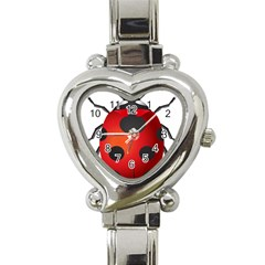 Ladybug Insects Heart Italian Charm Watch by BangZart