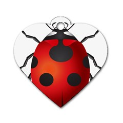 Ladybug Insects Dog Tag Heart (two Sides) by BangZart