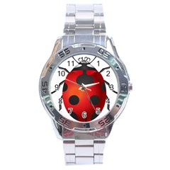 Ladybug Insects Stainless Steel Analogue Watch by BangZart