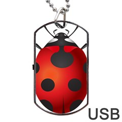 Ladybug Insects Dog Tag Usb Flash (two Sides) by BangZart