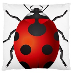 Ladybug Insects Large Cushion Case (one Side) by BangZart