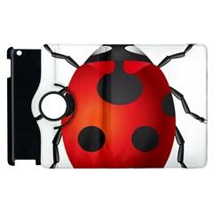 Ladybug Insects Apple Ipad 2 Flip 360 Case by BangZart