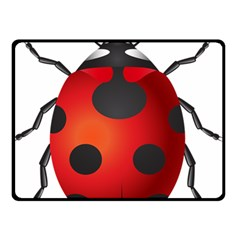 Ladybug Insects Double Sided Fleece Blanket (small)  by BangZart