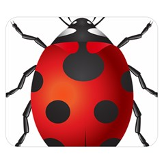 Ladybug Insects Double Sided Flano Blanket (small)  by BangZart
