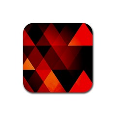 Abstract Triangle Wallpaper Rubber Coaster (square)  by BangZart