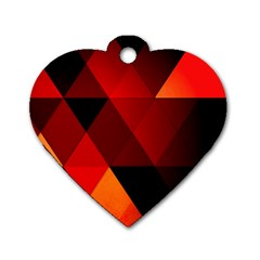 Abstract Triangle Wallpaper Dog Tag Heart (two Sides) by BangZart