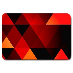 Abstract Triangle Wallpaper Large Doormat  by BangZart