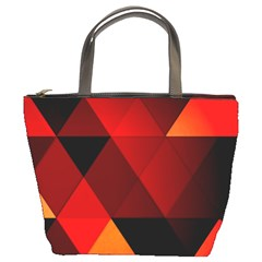 Abstract Triangle Wallpaper Bucket Bags by BangZart