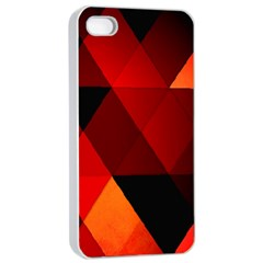 Abstract Triangle Wallpaper Apple Iphone 4/4s Seamless Case (white) by BangZart