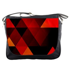 Abstract Triangle Wallpaper Messenger Bags by BangZart