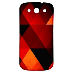 Abstract Triangle Wallpaper Samsung Galaxy S3 S Iii Classic Hardshell Back Case by BangZart