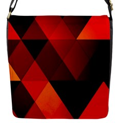 Abstract Triangle Wallpaper Flap Messenger Bag (s) by BangZart