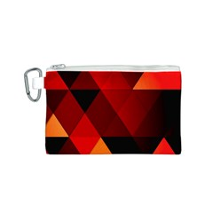 Abstract Triangle Wallpaper Canvas Cosmetic Bag (s) by BangZart