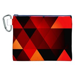 Abstract Triangle Wallpaper Canvas Cosmetic Bag (xxl) by BangZart