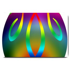 Colorful Easter Egg Large Doormat  by BangZart