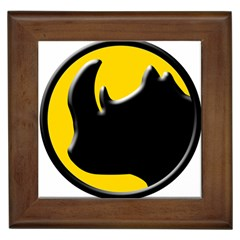 Black Rhino Logo Framed Tiles by BangZart