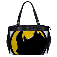 Black Rhino Logo Office Handbags by BangZart