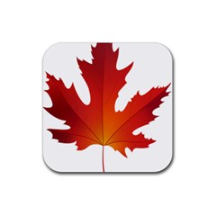 Autumn Maple Leaf Clip Art Rubber Square Coaster (4 Pack)  by BangZart