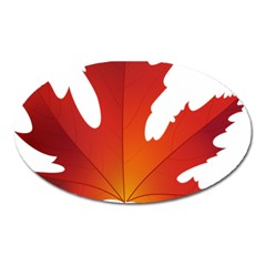 Autumn Maple Leaf Clip Art Oval Magnet by BangZart