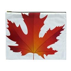 Autumn Maple Leaf Clip Art Cosmetic Bag (xl) by BangZart