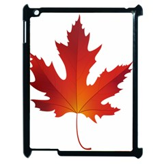 Autumn Maple Leaf Clip Art Apple Ipad 2 Case (black) by BangZart