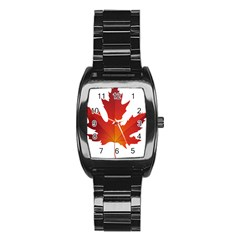 Autumn Maple Leaf Clip Art Stainless Steel Barrel Watch by BangZart