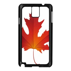 Autumn Maple Leaf Clip Art Samsung Galaxy Note 3 N9005 Case (black) by BangZart